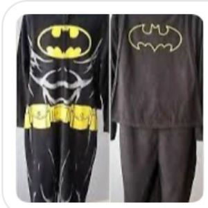 Batman onesie with hood and cape